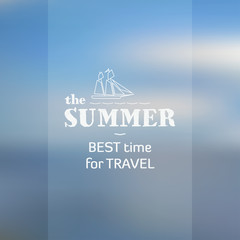 Vector blurred background on the subject of summer sea travel