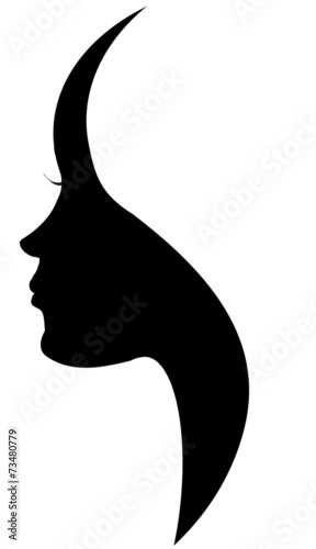Vector silhouette of a woman. - 73480779