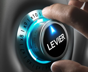 Bourse concept - Effet de levier
