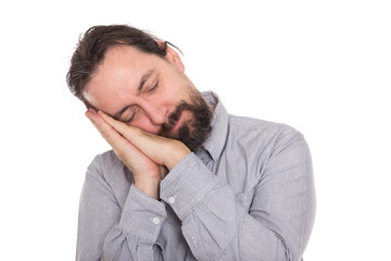 Mann leidet an der Schlafkrankheit