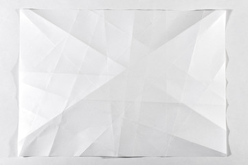 Folded white blank document