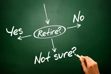 The risk to take the retirement on blackboard, presentation