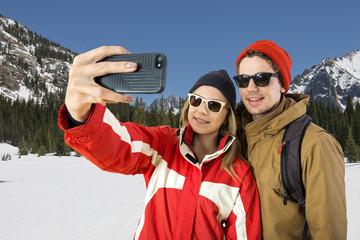 Wintersport Selfie