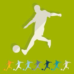 Flat design: soccer player