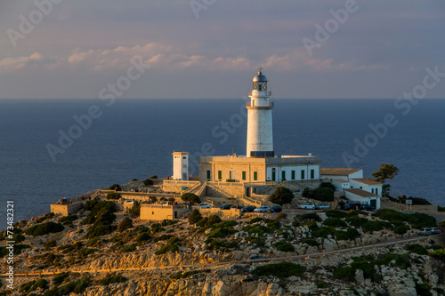 canvas print picture Leuchtturm am Cap Formentor