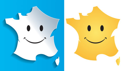 Carte France Smiley-1