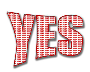 Yes and No sign on white background