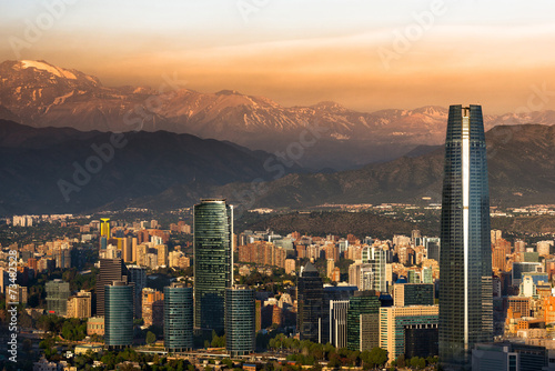Spoed canvasdoek 2cm dik Zuid-Amerika land Santiago de Chile