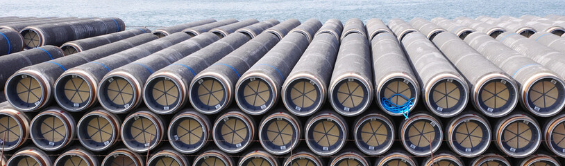 New pipes for gas pipeline