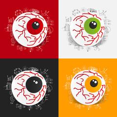Drawing business formulas: eye