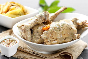 lapin sauce moutarde 5
