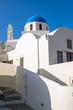 canvas print picture - Beautiful white church in Oia
