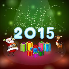 Santa and many gifts