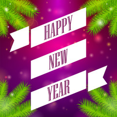 Ribbon Happy New Year