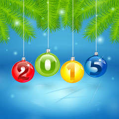 Christmas Tree Background with 2014