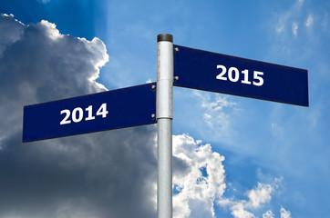 Schild Jahreswechsel 2014 2015