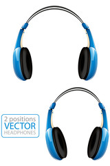 Blue Vector Headphones
