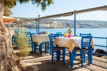 Seaside cafe terrace
