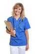 canvas print picture - Stehende Krankenschwester mit Akte