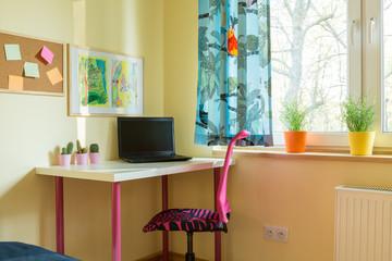 Room of schoolchild