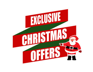 Exclusive Christmas offers banner design