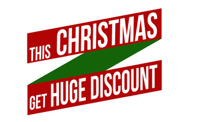 This Christmas get huge discount banner design