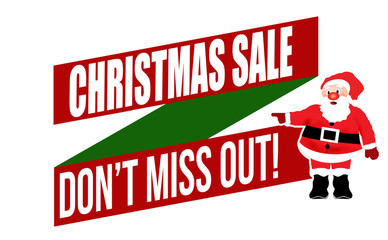 Christmas sale don't miss out banner design