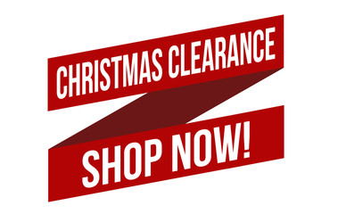 Christmas clearance shop now banner design