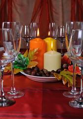 Tableware in autumn colors