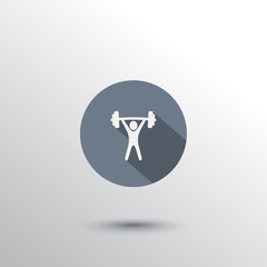 weightlifting flat icon vector illustration, eps10, easy to edit