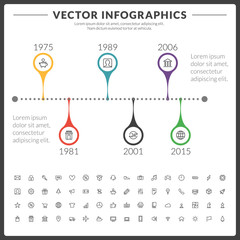 Vector infographics and design elements
