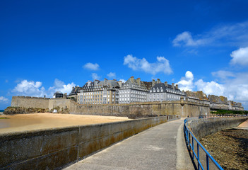 Saint Malo city walls, Brittany, France, Europe