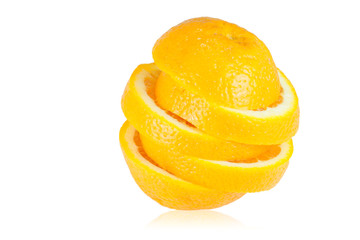Slice of fresh ripe orange.