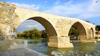 Historical Aspendos bridge, Turkey