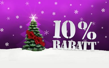 Christmas Tree 10% Rabatt discount