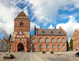 Roskilde - square and Old Town Hall, Denmark