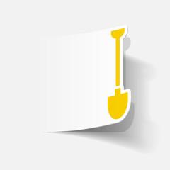 realistic design element: shovel