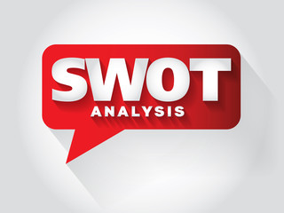 SWOT Analysis Message bubble, promotional background