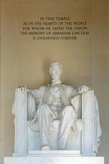 Lincoln Statue in Lincoln Memorial, Washington DC