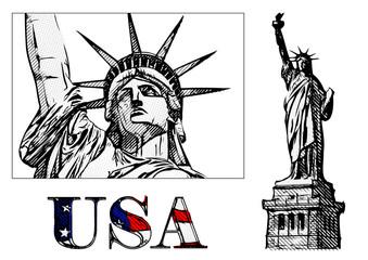 freedom statue illustration