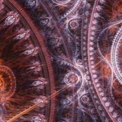 Dark steampunk abstract mechanical background