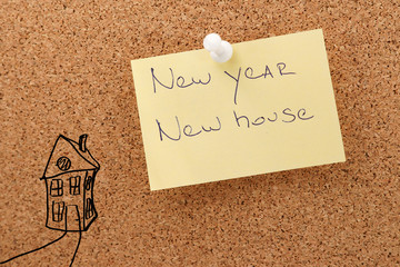 New sticker new house new year
