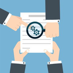 Preparation business contract icon.