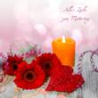 Alles Liebe zum Muttertag - Gerbera - Kerze