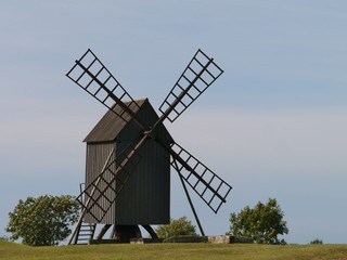 Wind mill on the Swedish island Oeland