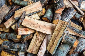 Oak and pine firewood