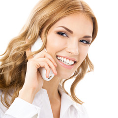Phone operator or businesswoman with phone