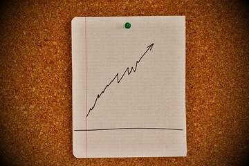 Notice board with graph sketch