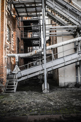 rusty industrial ruine