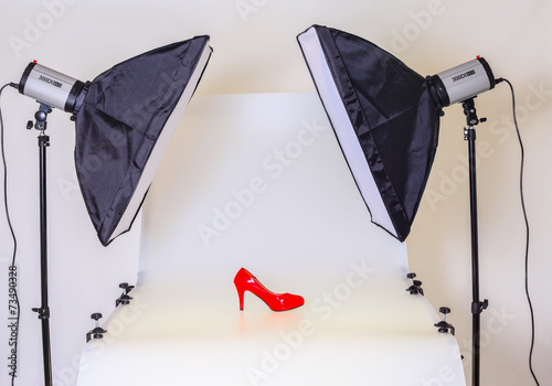 Photo table for product photography in a studio - 73490328